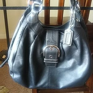 Coach large black handbag
